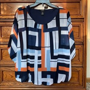 Women's abstract blouse